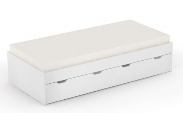 Dětská postel s úložným prostorem REA Misty 90x200cm - bílá