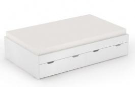 Postel s úložným prostorem REA Misty 120x200cm – bílá