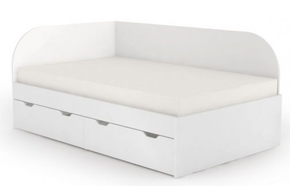 Postel s úložným prostorem REA Gary 120x200cm - bílá
