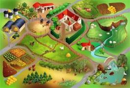 Dětský koberec Farma 3D