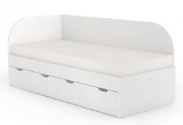 Dětská postel s úložným prostorem REA Gary 90x200cm - bílá