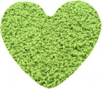 Koberec Color Shaggy srdce 120 cm - zelené jablko