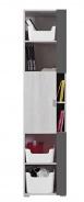 Úzká skříň Delbert 6 - borovice/tmavě šedá