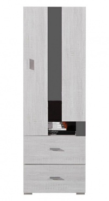 Nízká skříň Delbert 8 - borovice/tmavě šedá