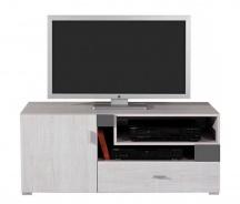 Televizní stolek Delbert 12 - borovice/tmavě šedá