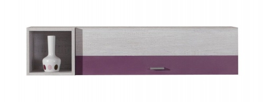 Závěsná skříňka Delbert 14 - borovice/fialová