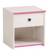 Dětský  noční stolek Smoozy modrý nebo růžový