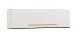 Nástěnná skříňka Oscar - bílá/modrá