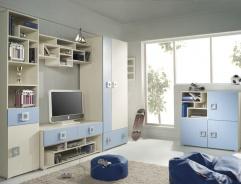 Dětský pokoj Relax C - krémová/modrá