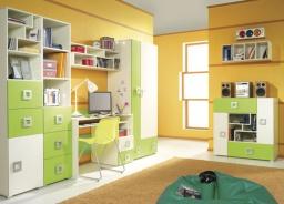Dětský pokoj Relax D - krémová/oranžová