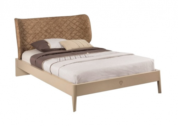 Moderní postel Oscar 120x200cm - béžová/světle hnědá