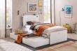Dětská postel s přistýlkou Pure - bílá