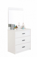 Komoda se zrcadlem Pure - bílá