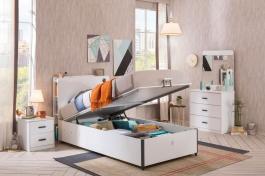 Sestava s výklopnou postelí Pure - bílá