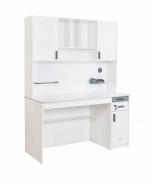 Velký psací stůl s nástavcem Pure - bílá