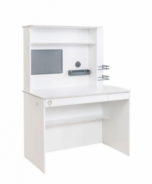 Malý psací stůl s nástavcem Pure - bílá