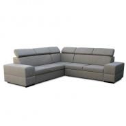 Rohová rozkládací sedací souprava s úložným prostorem, pravé provedení, cappucino, MONAKO