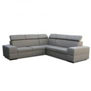 Rohová rozkládací sedací souprava s úložným prostorem, levé provedení, cappucino, MONAKO