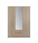 Šatní skříň Thea 3D - dub sonoma
