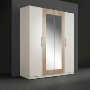 Šatní skříň Cleo - bílý uni/dub sonoma-bílý uni
