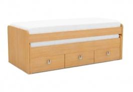 Dětská postel REA Teeny 90x200cm s výsuvným lůžkem a úložným prostorem - buk