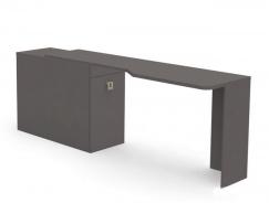 Psací stůl REA Teeny s kontejnerem L/P - graphite