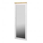 Zrcadlo Monako II - bílá/světle hnědá