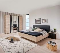 Malá ložnice Marcus - dub šedý/černá