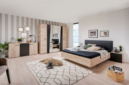 Velká ložnice Marcus - dub šedý/černá