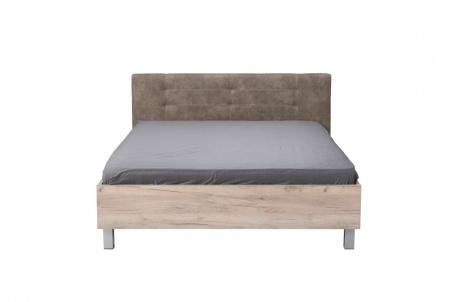 Manželská postel 180x200cm Ciri - dub šedý/šedá