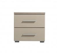 Noční stolek Ciri - dub šedý/béžová