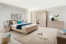 Luxusní ložnice Ciri - dub šedý/béžová