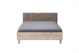 Manželská postel 160x200cm Ciri - dub šedý/šedá