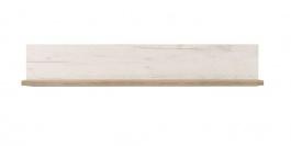 Závěsná police Henry - dub bílý/dub šedý