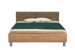 Manželská postel 180x200cm Ciri - dub zlatý/šedá