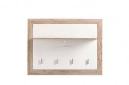 Věšákový panel Shine - dub šedý/bílá