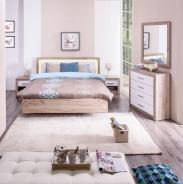 Malá ložnice Shine - dub šedý/bílá