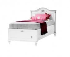 Dětská postel s úložným prostorem Carmen 90x190cm - bílá