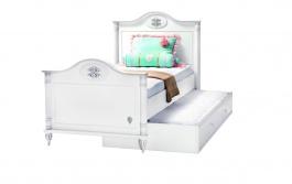 Dětská postel s přistýlkou Carmen 100x200cm - bílá