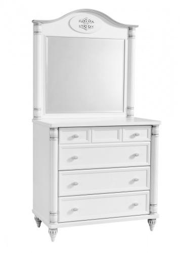 Zásuvková komoda se zrcadlem Carmen-bílá