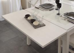 Prodlužovací deska k jídelnímu stolu Lora - bílá