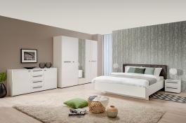 Moderní ložnice Aubrey II - bílá