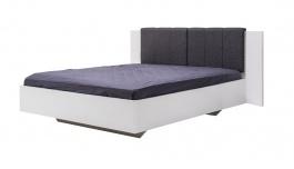 Manželská postel Stuart 160x200cm - bílá/šedá