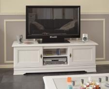 Rustikální televizní stolek Lora II - bílá