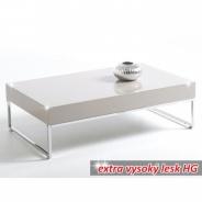 Konferenční stolek Lotti - chrom/bílý lesk