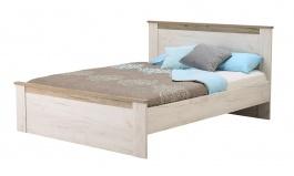 Manželská postel Henry 160x200cm - dub bílý/dub šedý