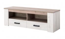 Televizní stolek Henry - dub bílý/dub šedý