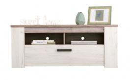 TV stolek Henry - dub bílý/dub šedý