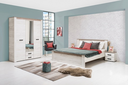 Malá ložnice Henry I - dub bílý/dub šedý