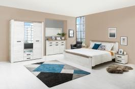 Velká ložnice Henry - dub bílý/dub šedý